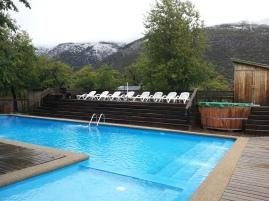 Very cold pool in Termas de Chillán
