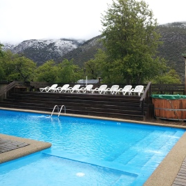 Very cold pool in Termas de Chillán