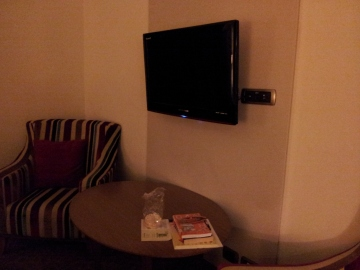There were two of these TVs in the room.
