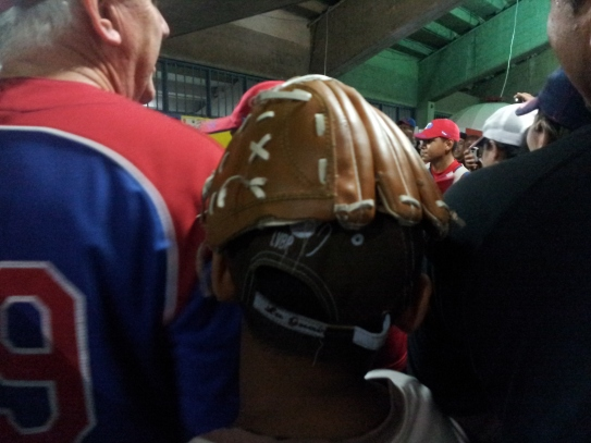 Post-game rally hat.