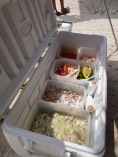 Selection of ceviche
