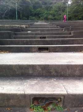 Apparently there used to be lights on the stairs.